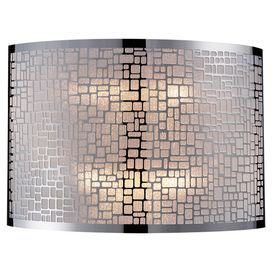 "Openwork wall sconce in stainless steel.  Product: Wall sconceConstruction Material: SteelColor: Stainless steelFeatures: Modern designAccommodates: (2) 60 Watt bulb - not includedDimensions: 8"" H x 11"" W x 5"" D"