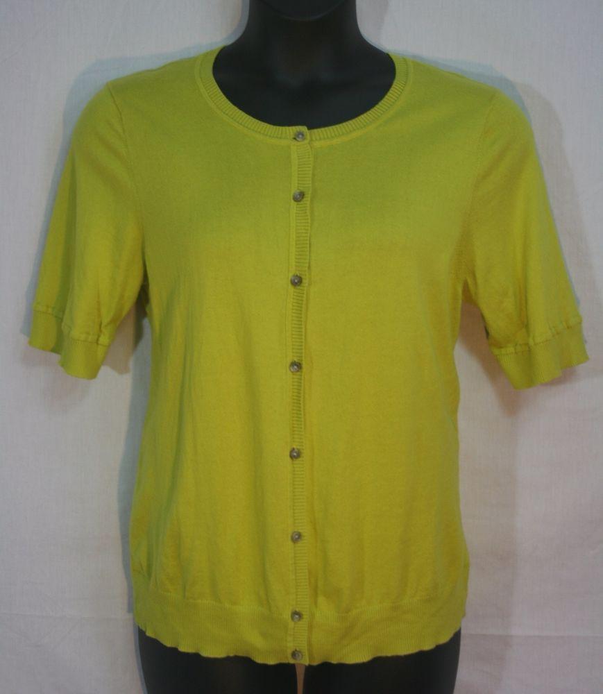 Ann Taylor Loft Button Down Cardigan Sweater XL Short Sleeve ...