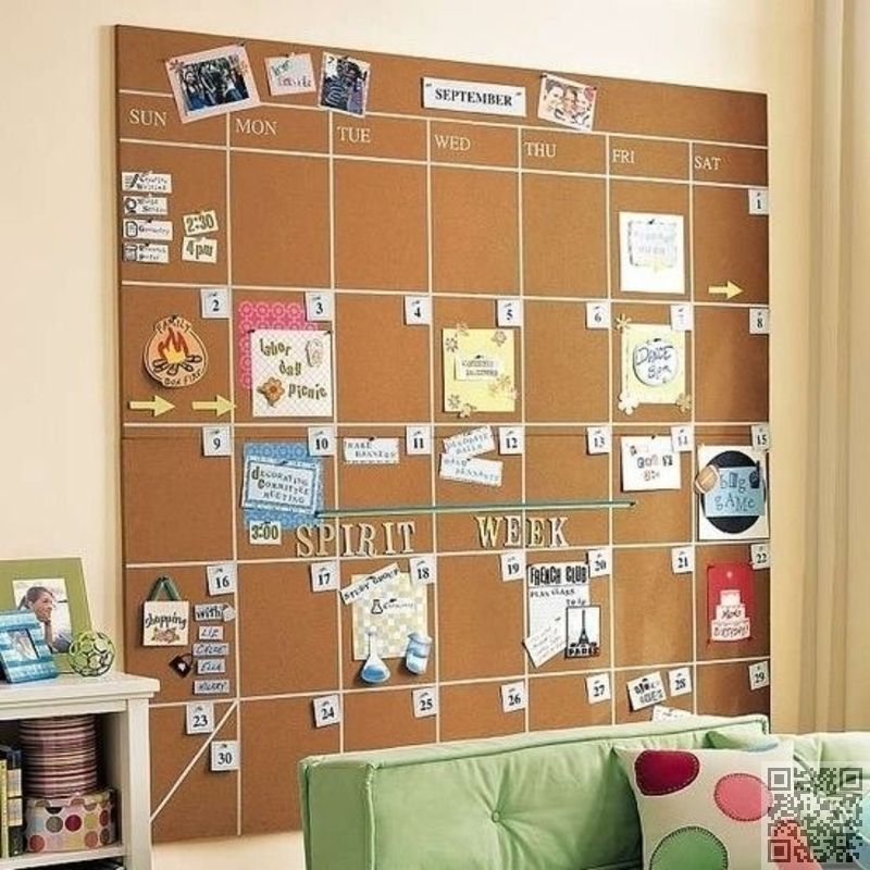 Captivating DIY Cork #Board Calenders   34 DIY Dorm Room Decor #Projects To Spice Up  Your Room ... → DIY #Decor