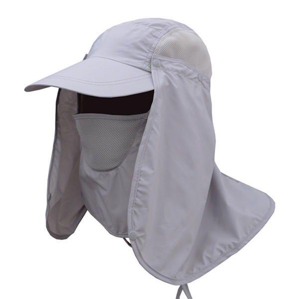 235b7f7dcbaa7 Mens Quick Dry Neck Cover Sun Fishing Hat Ear Flap Bucket Outdoor UV  Protection Cap