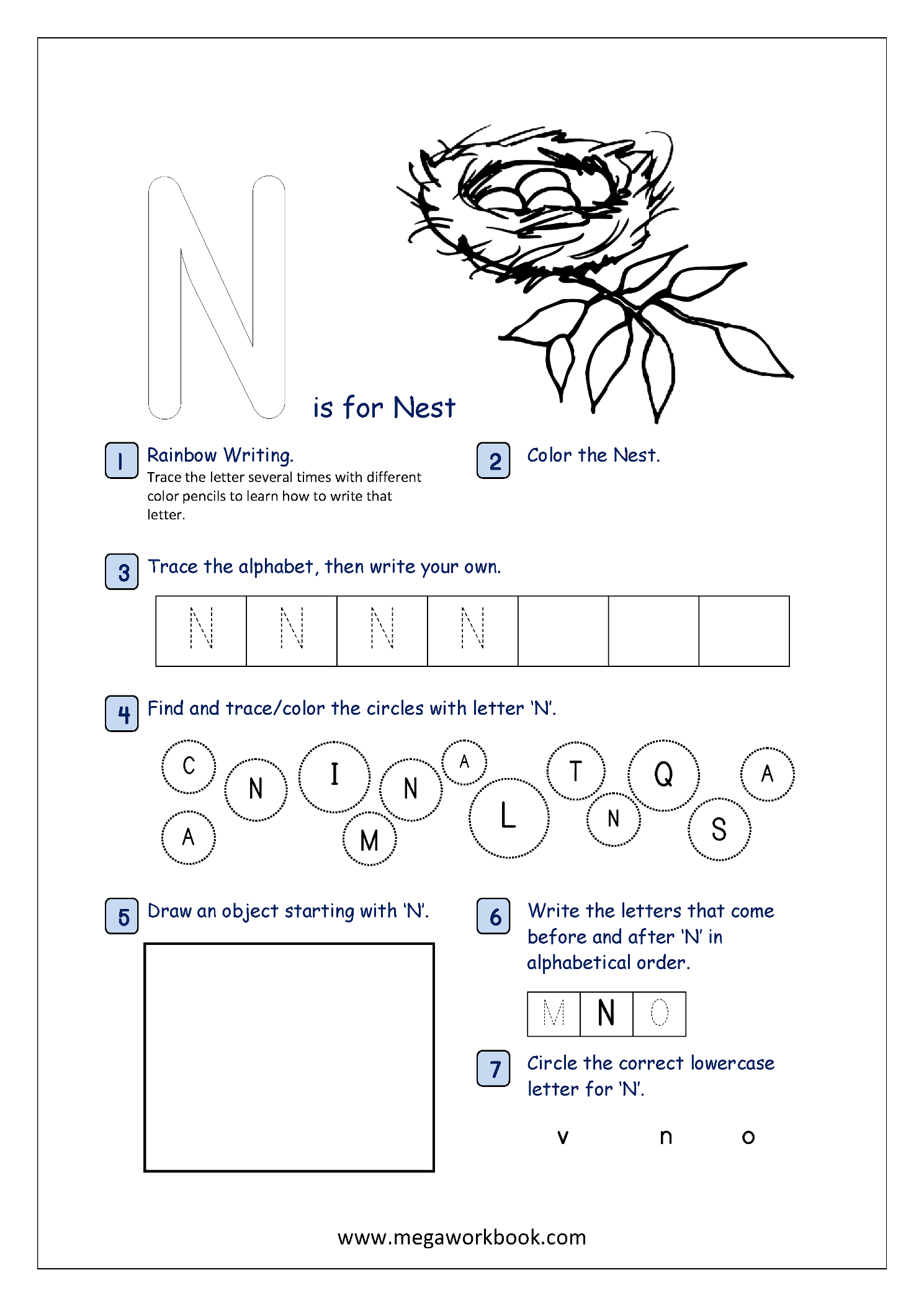Alphabet Recognition Activity Worksheet