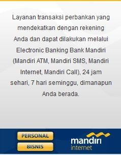 Registrasi Mandiri Internet Bisnis Internet Perbankan Pelayan
