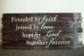 So sweet:) wedding sign