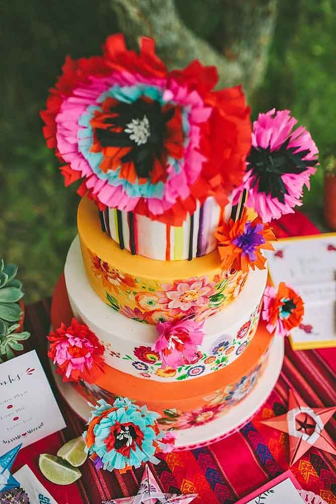 mexican style wedding cakes 42 exciting amp colourful mexican wedding cake ideas 17281