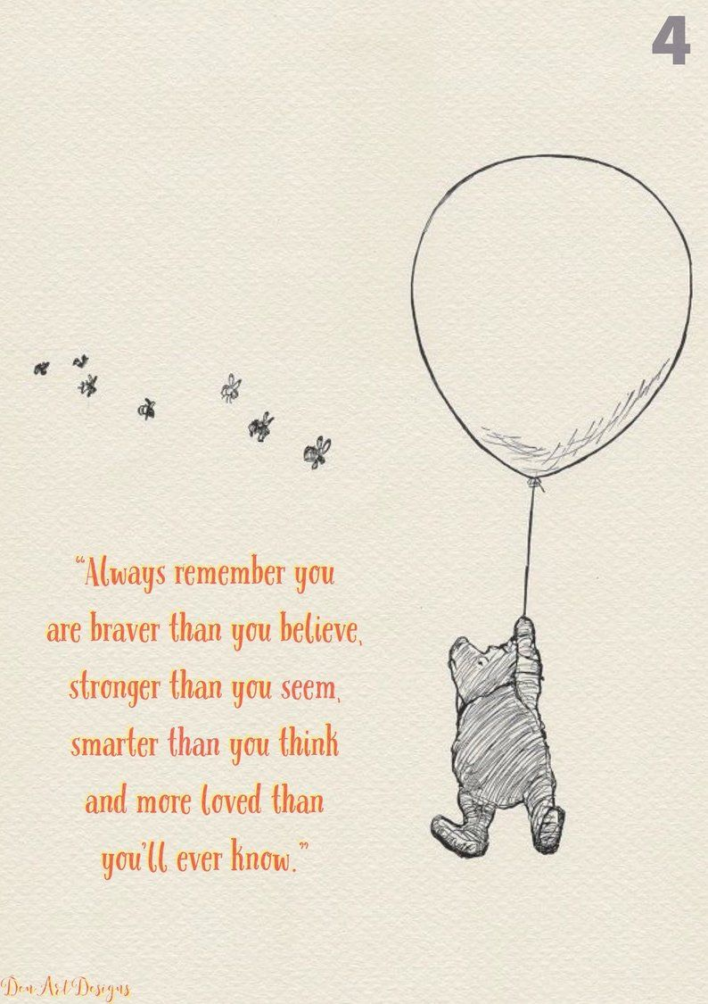 Motherhood Quotes Discover Winnie The Pooh Inspired Print - Christopher Robin Quote Print. Home Decor. Strength Winnie The Pooh Inspired Print/ Poster Christopher Robin
