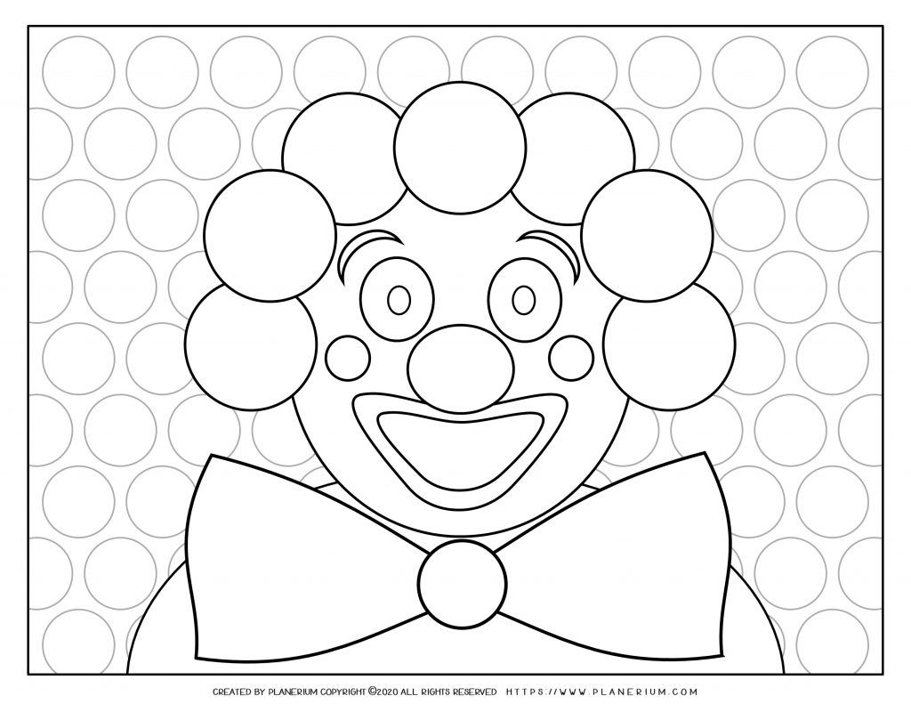 Carnival Coloring Pages And Worksheets
