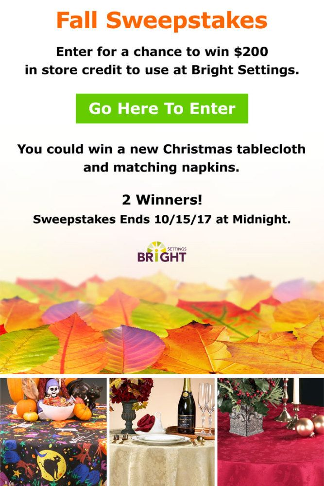 Fall giveaway sweepstakes
