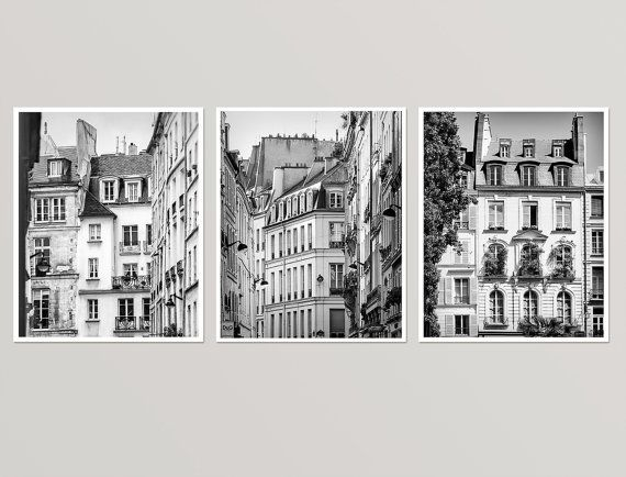 Paris wall art set of 3 black and white by rivuletphotography fine art prints http etsy me 2gcnn6a paris setofprints wallart photography
