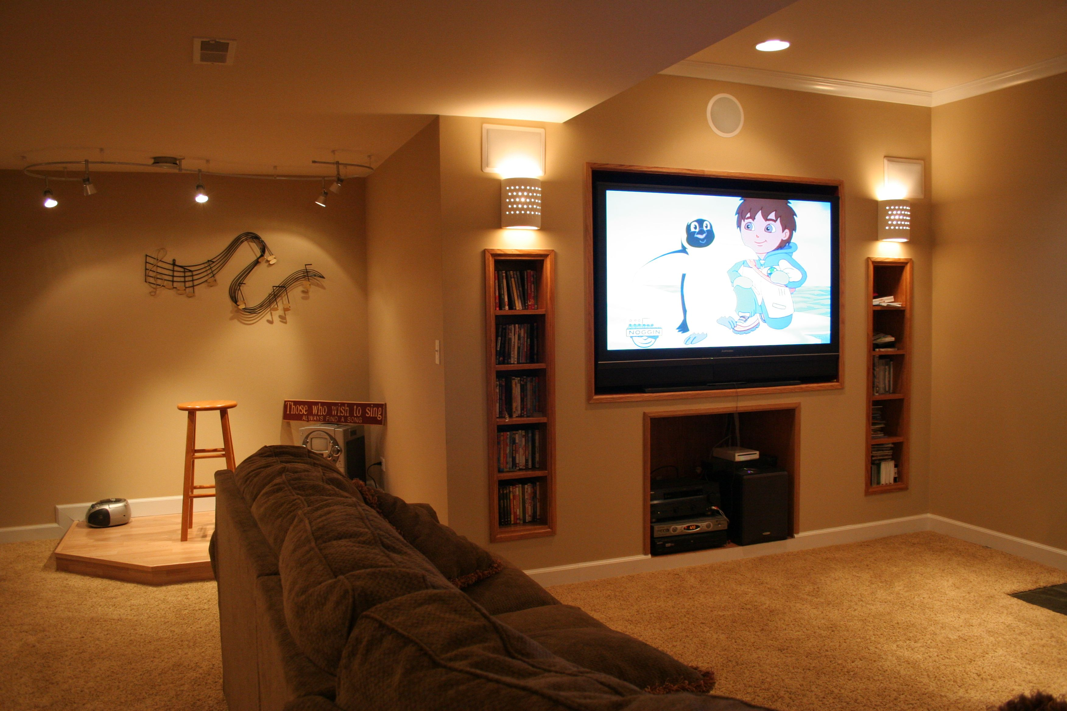 simple basement makeover  Download Wallpaper Basement bar ideas