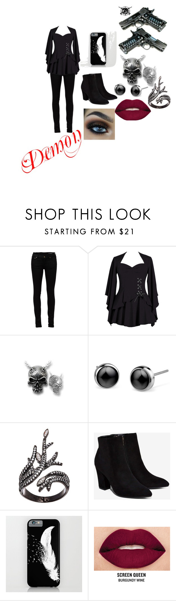 """""""Demon"""" by leea40074 on Polyvore featuring Yves Saint Laurent, Lord & Taylor, Billini and Smashbox"""