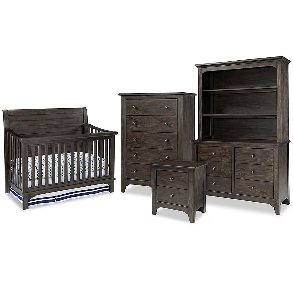 Westwood Design Taylor Crib Furniture Collection In River Rock Brown Black Baby Furniture Cribs Furniture