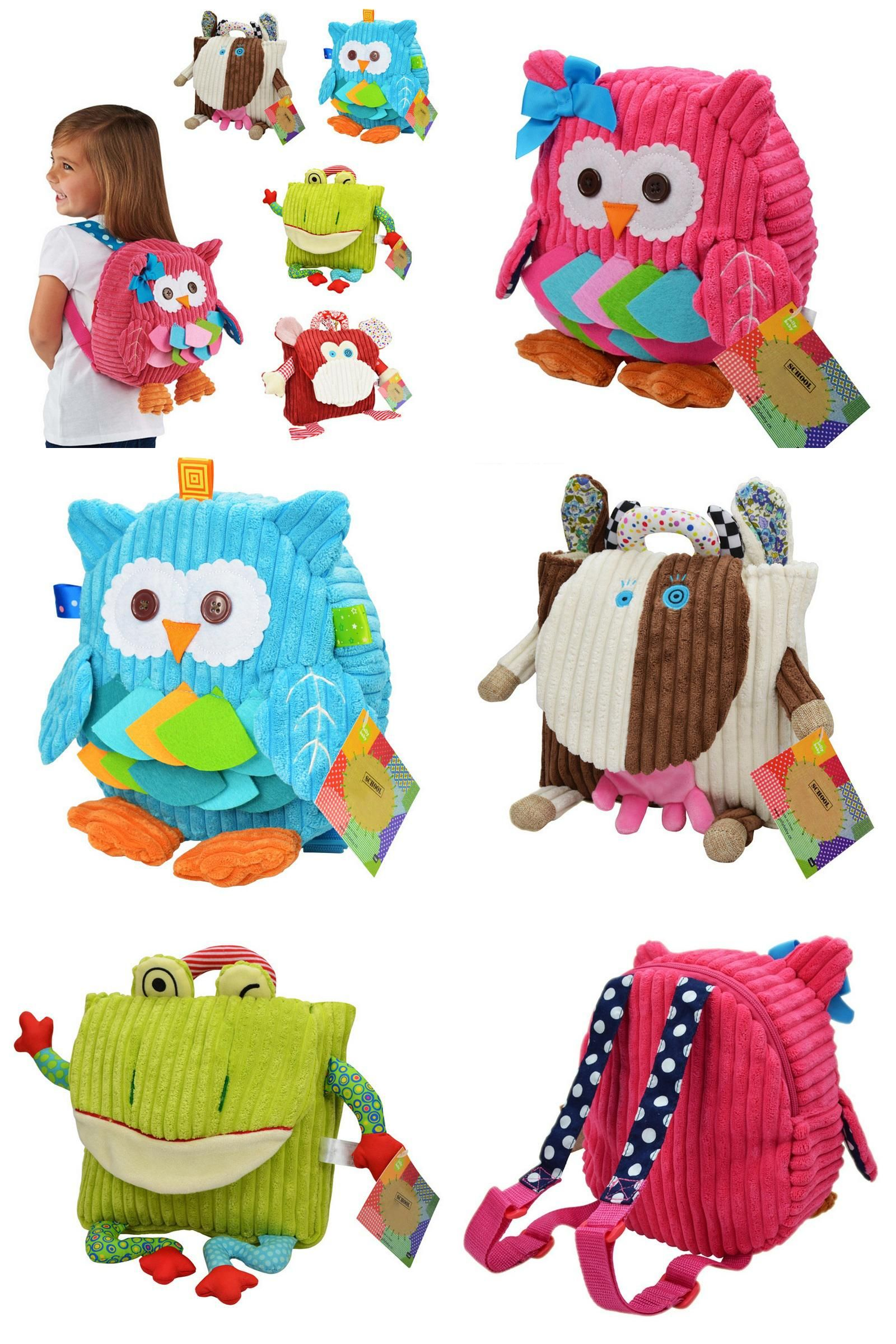 Visit to Buy  Children s Plush School Bags Kids Toy Backpacks 25cm  Preschool Girls Boys aeee7b94da702