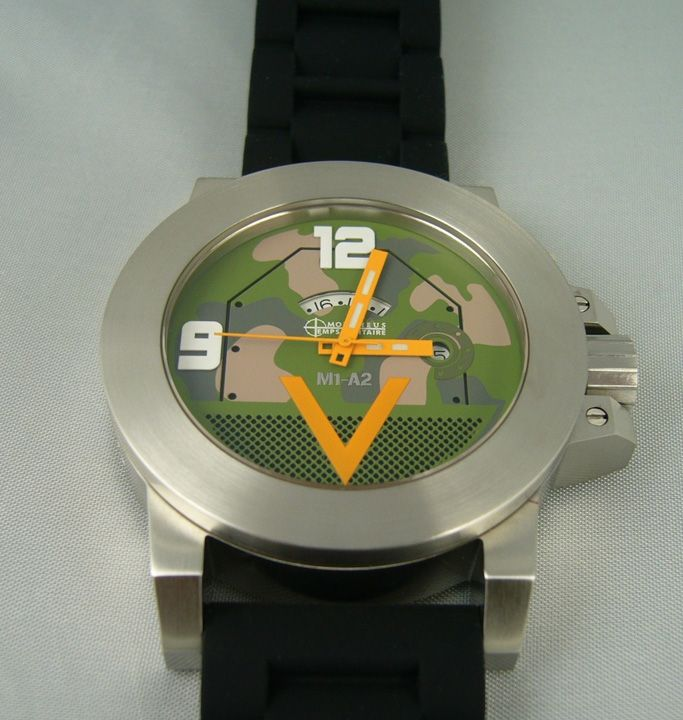 M1A2 TANK WATCH STAINLESS WEURO CAMO DIAL