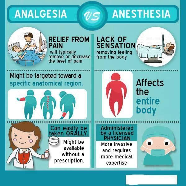 Analgesia Vs Anesthesia  Nursing
