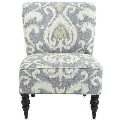 Genial Addyson Chair   Gray Ikat