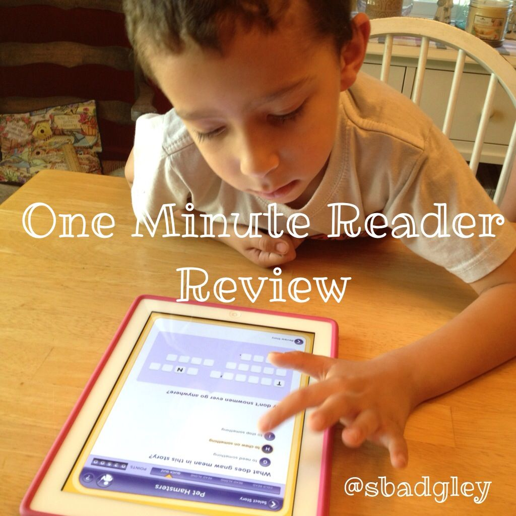 {Review} One Minute Reader iPad App Literacy apps