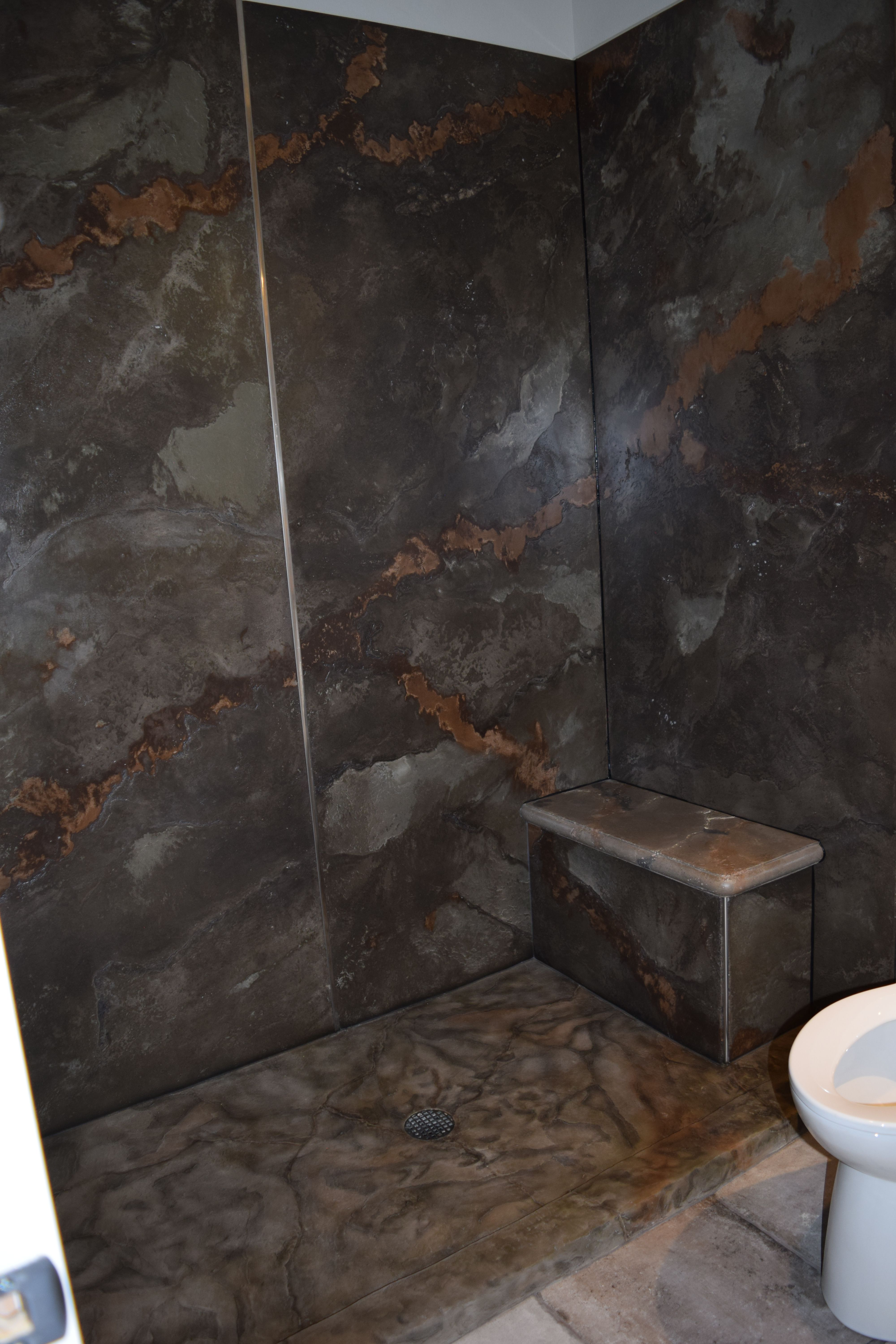 Concrete Shower Panels Custom Made Out Of 1 2 Thick Concrete By