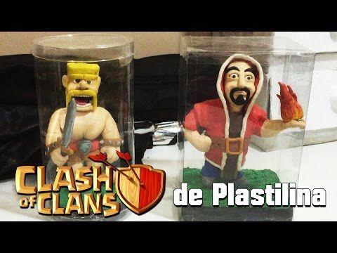 Clash of Clans(Barbaro y Mago) de Plastilina - YouTube