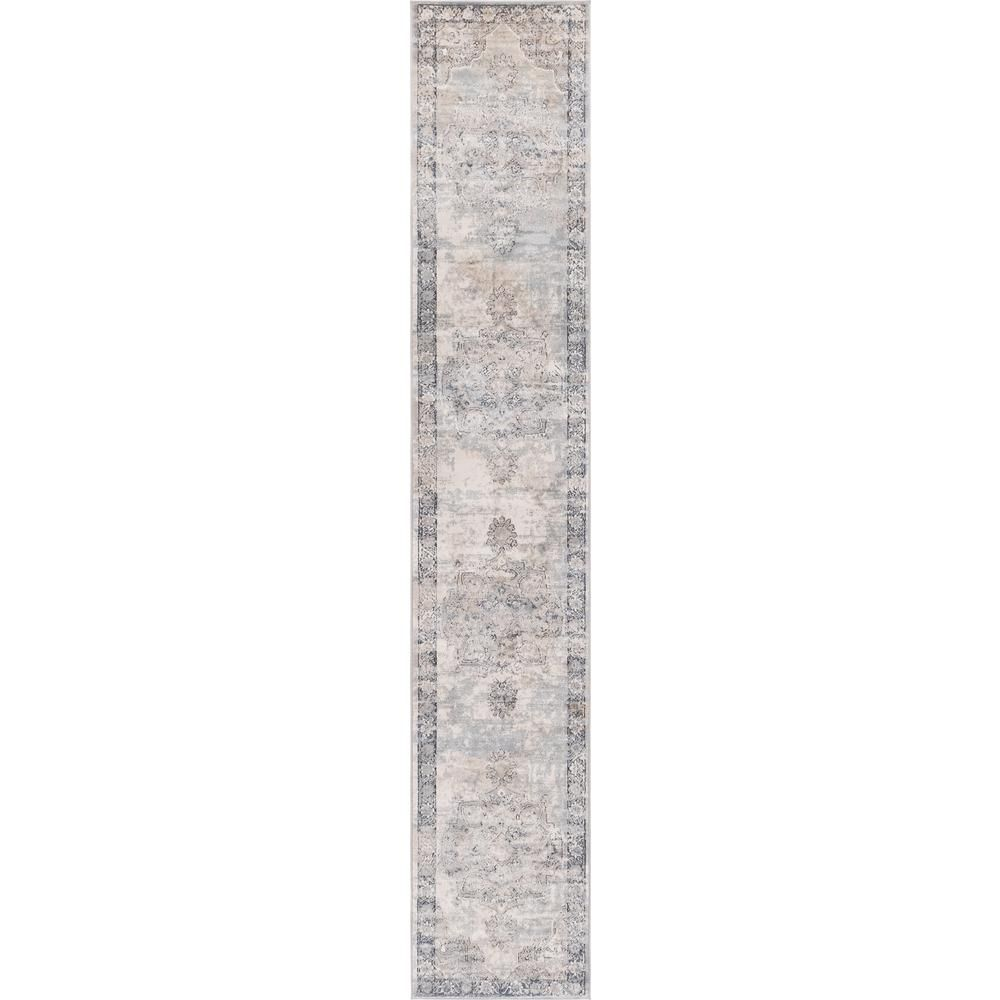 Unique Loom Portland Canby Ivory Gray 2 Ft 2 In X 12 Ft Runner Rug In 2020 Blue Area Rugs Area Rugs Rugs