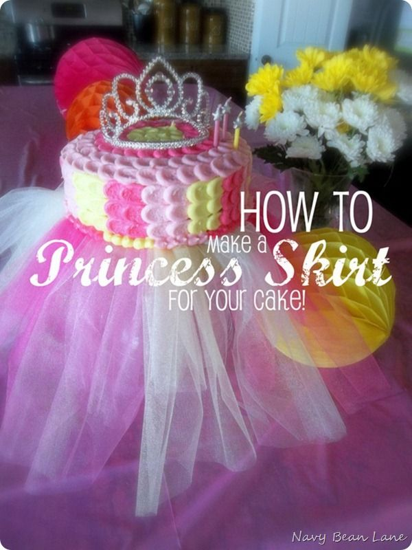 Princess Cake Complete With Crown And Tutu How Cute For A Party That Would Include Dress Up Closet Or Wands Tutus Crowns Etc As Favors