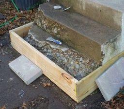 Stair Repair Repairing Concrete Steps Concrete Steps Concrete | Repairing Outdoor Wooden Steps | Stair Stringer | Concrete Slab | Deck Stairs | Concrete Porch | Deck