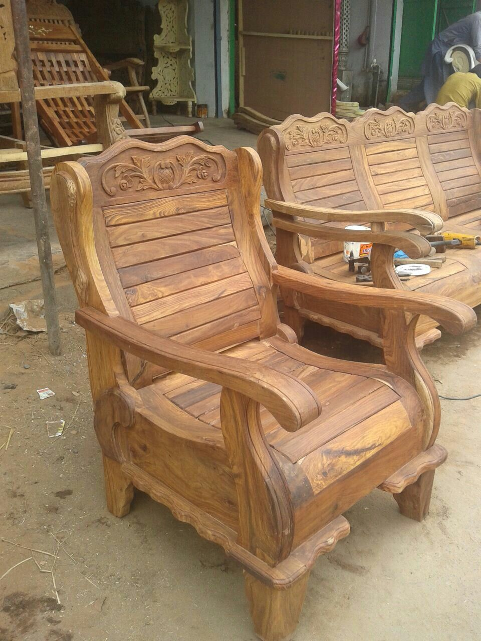 Pin By Woodsmithservices On Wood Carwing Furniture And Gift Artical 06374122215 Wooden Sofa Designs Furniture Design Wooden Wooden Sofa Set