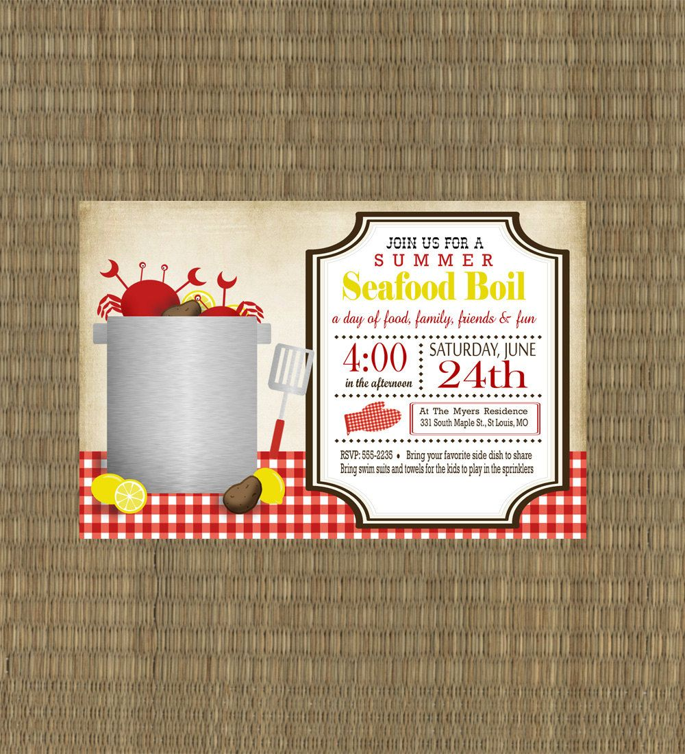 picture relating to Crawfish Boil Invitations Free Printable named Shrimp Boil Invites - Totally free Shrimp Boil Invites