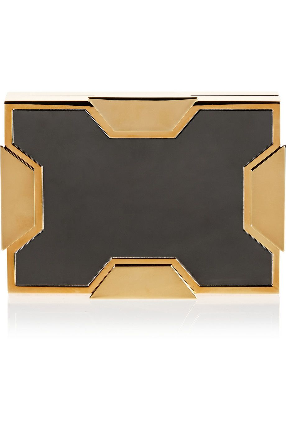 Lee Savage | Space small two-tone box clutch | NET-A-PORTER.COM