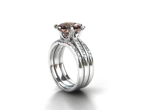 3.64ct Peach morganite engagement ring set by TorkkeliJewellery  $4950