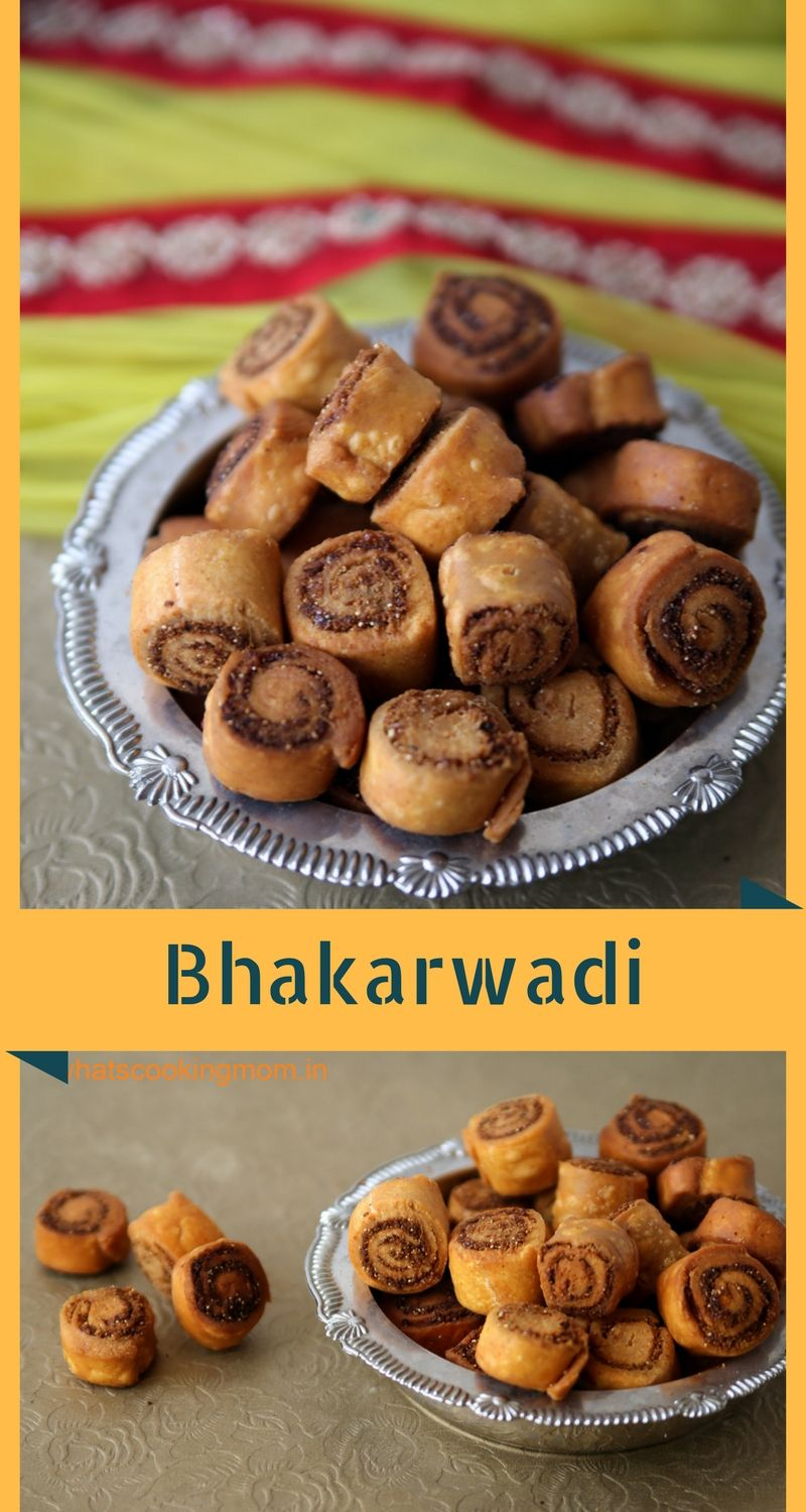 bhakarwadi - It is a spicy Tea time snack with a hint of sweet and slightly tangy. #festival #indian #snack   whatscookingmom.in