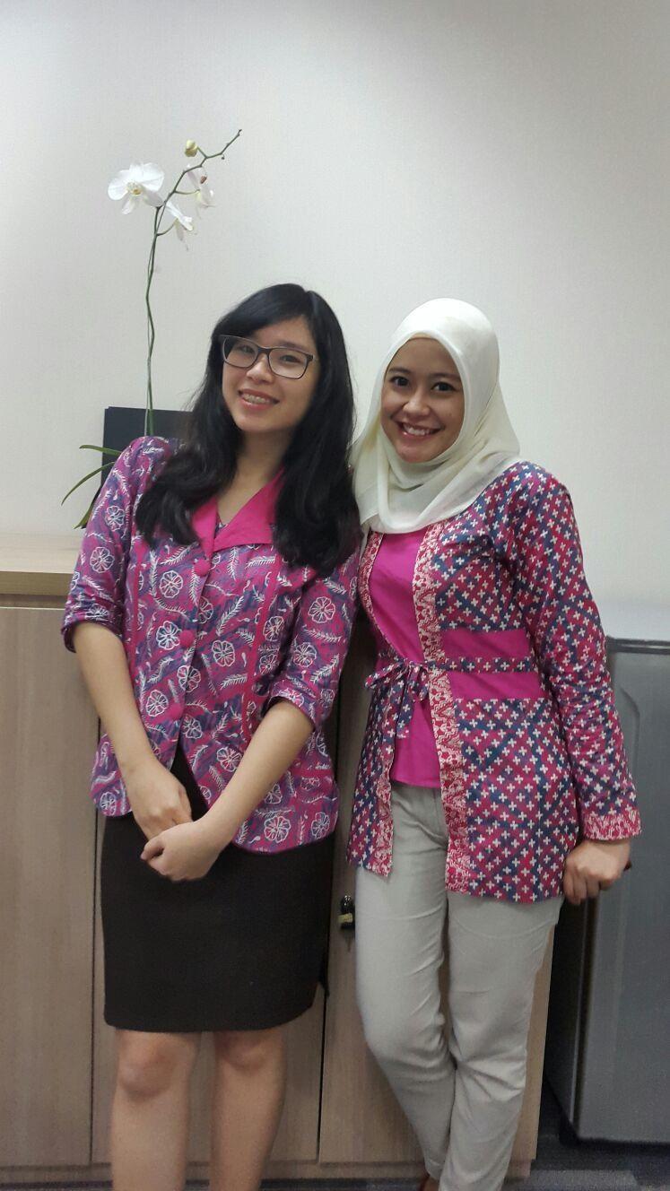 Model Baju Batik Kantor Bank Model Baju Wanita Pakaian