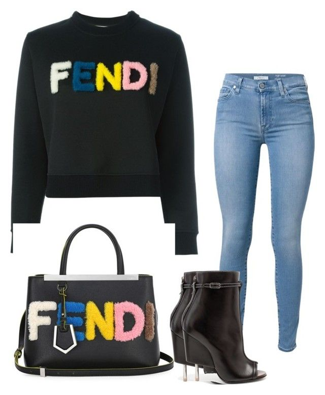 """""""Untitled #390"""" by adsmith2321 on Polyvore featuring Fendi, 7 For All Mankind and Givenchy"""