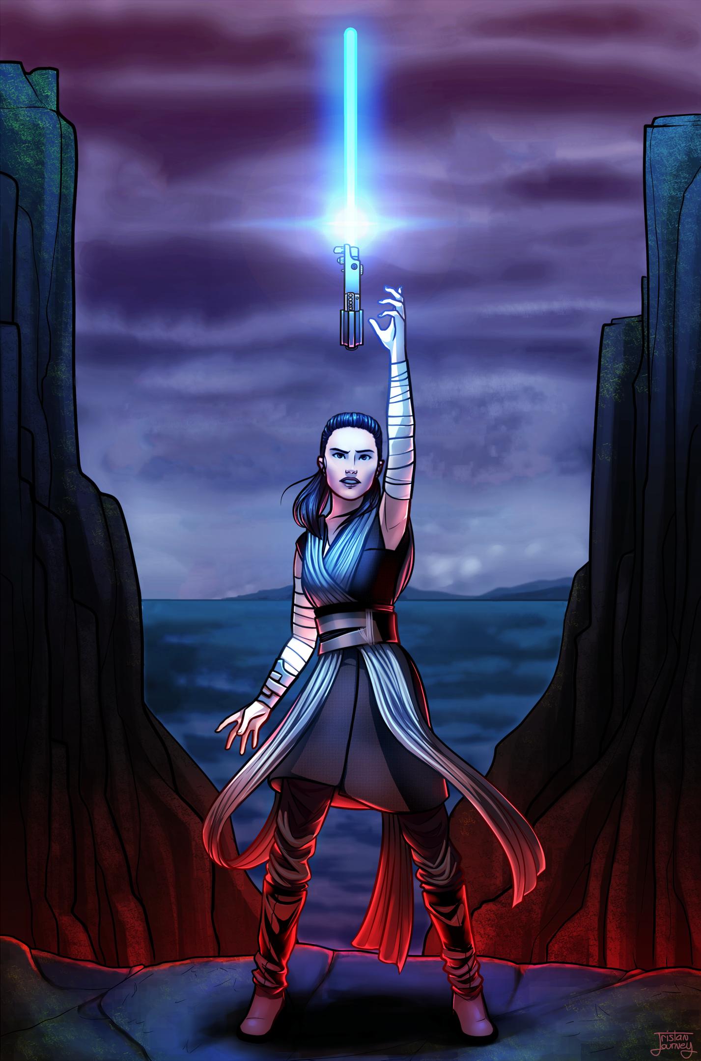Rey - Jedi Fan Art Tristan Journey