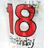 Make their first pint a personalised one - Happy 18th Birthday Pint Glass  www.smashingglassdesigns.co.uk