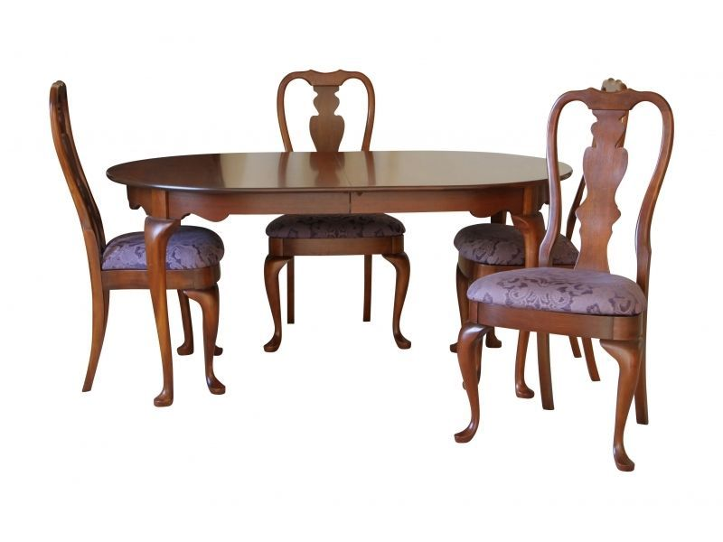 Hitchcock Chair Co Queen Anne Cherry Dining Set Table Four Chairs