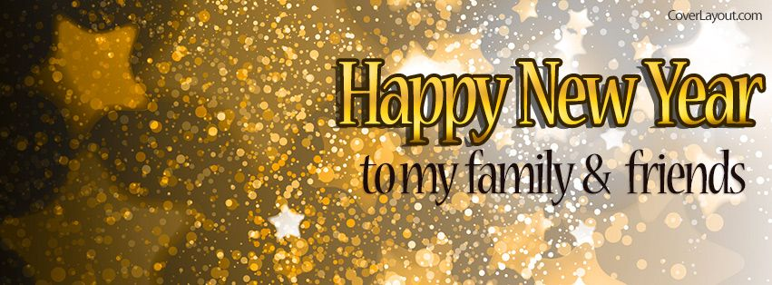 happy new years to my family and friends stars facebook cover coverlayoutcom