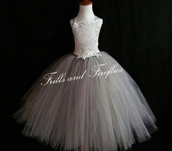 Flower Girl Dress Formal Princess Bridesmaid Wedding Dresses Tutu Party Gowns