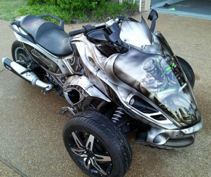 Real Steel Can Am Can Am Spyder Trike Motorcycle Can Am