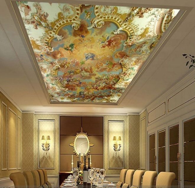 wallpaper for ceiling mural sky - photo #45