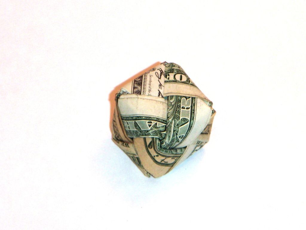 Dollar Bill Origami Cube | Crafty things | Origami cube ... - photo#25