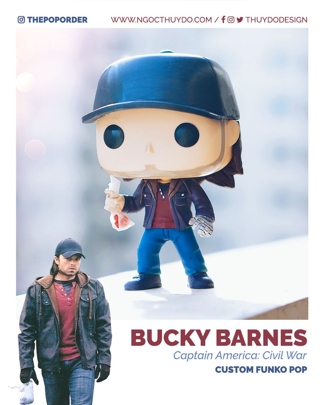 Pin By Kathryn Redd On Marvel In 2020 Custom Pop Figures Marvel Pop Vinyl Bucky
