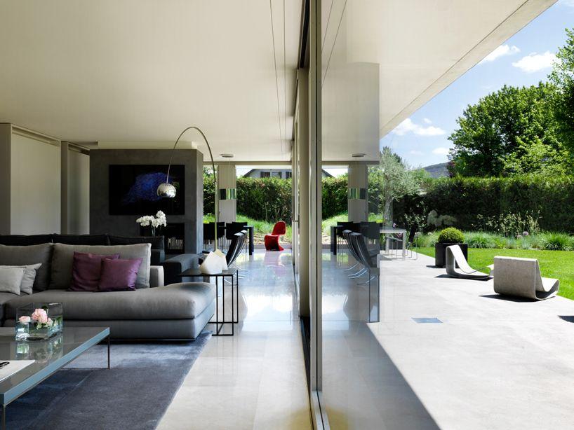 Living area. 2lb house in geneva by raphael nussbaumer architectes