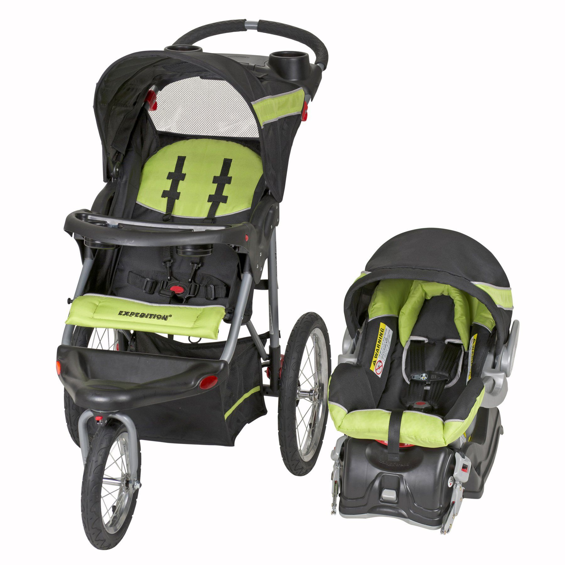 Baby Trend Expedition Travel System Electric Lime