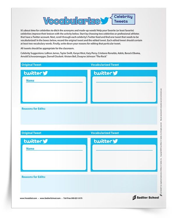 Printable vocabulary practice worksheets that are individual social ...