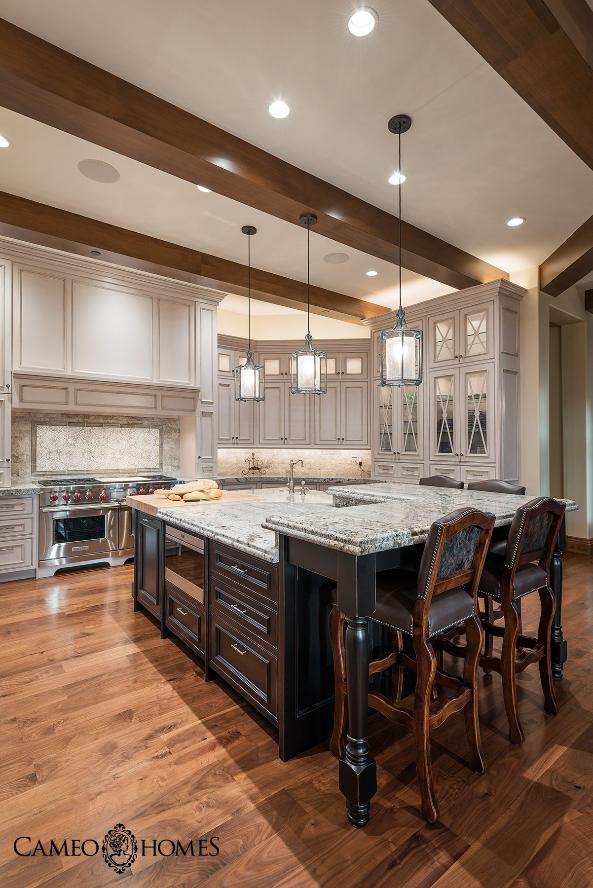 Kitchen Island Cabinets By Highline MHR Interior Design Utah Home Builder Park CityHome