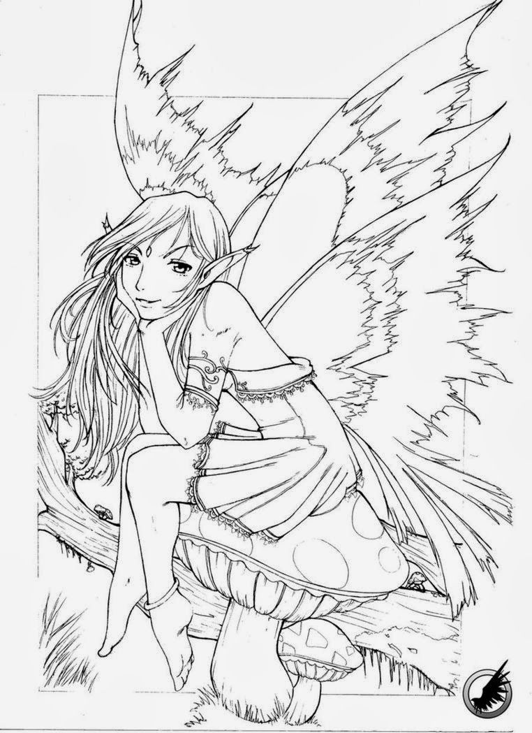 Free printable coloring pages for grown ups - Fairy Coloring Pages Detailed Fairy Coloring Pages For Adults Free