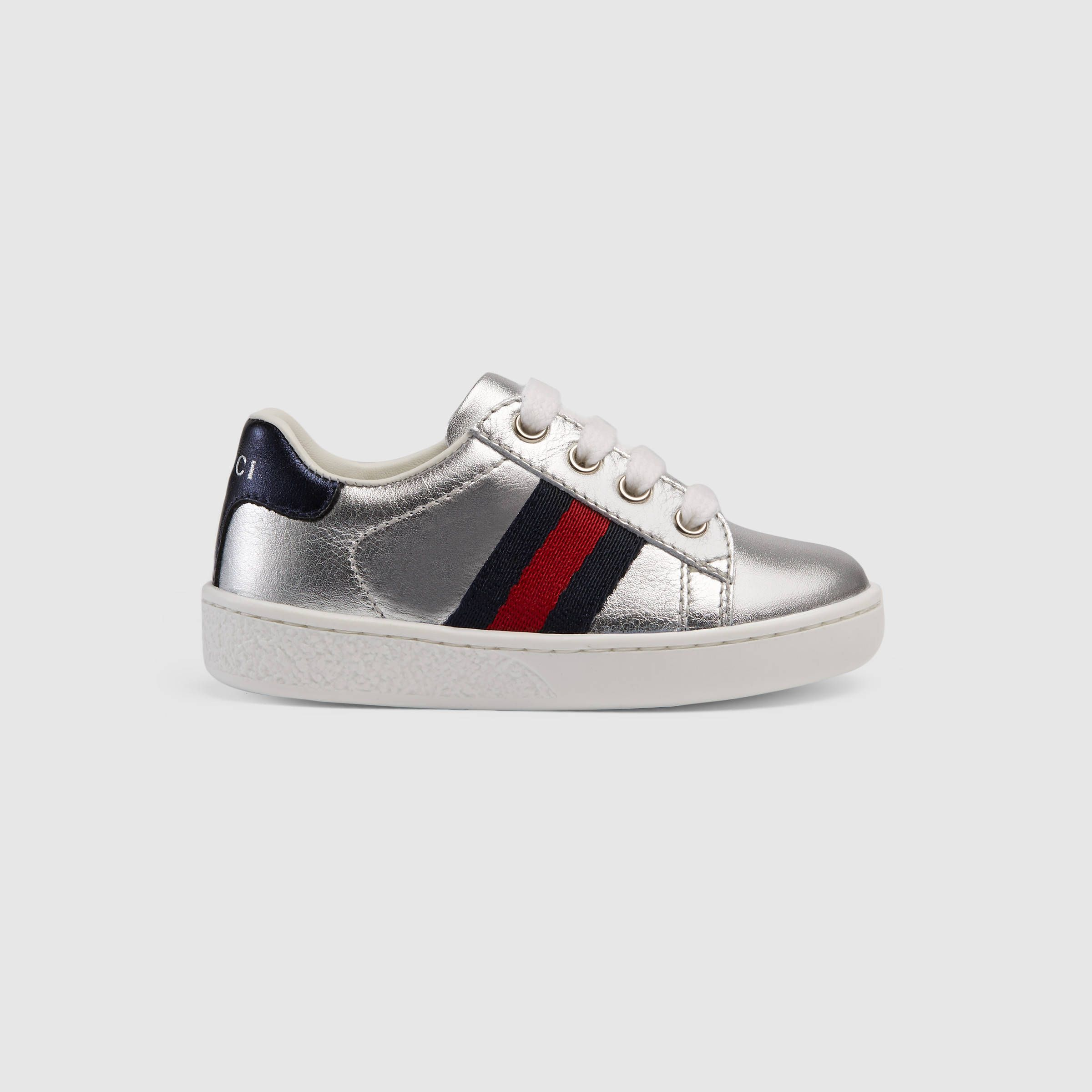 1654a68d2d5 Gucci Children - Toddler leather low-top with Web