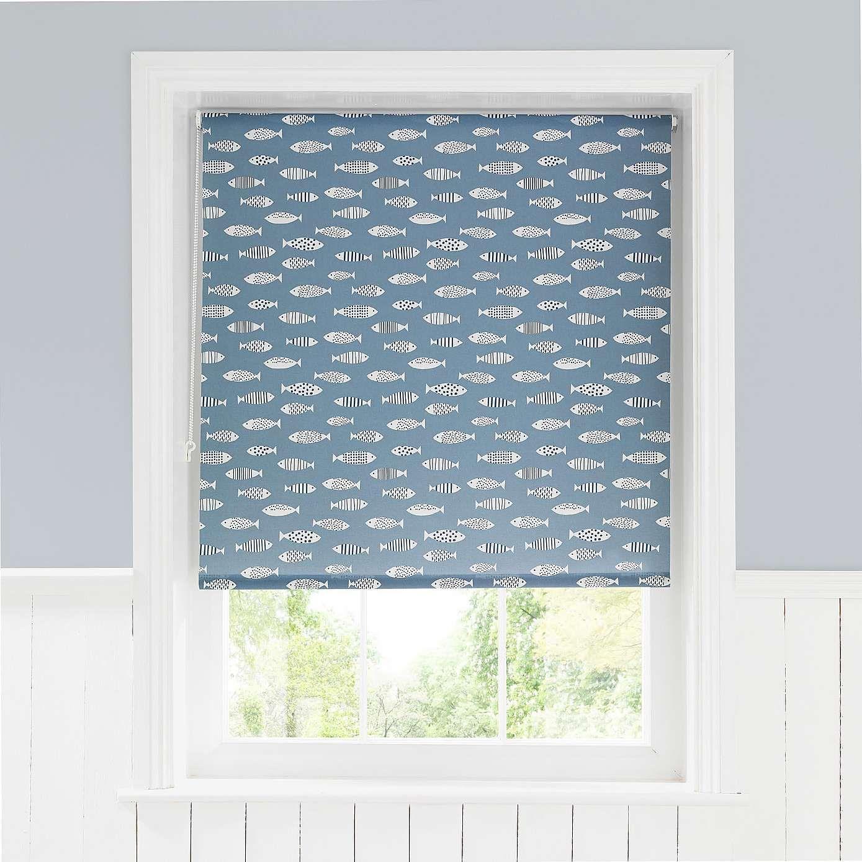 Blue Fish Daylight Moisture Resistant Roller Blind | Bathroom ...