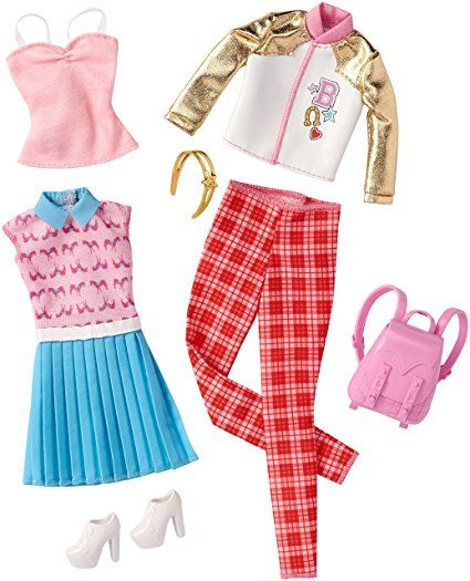 BARBIE COMPLETE LOOK FASHION PACK OUTFIT Butterfly Top /& Denim Skirt