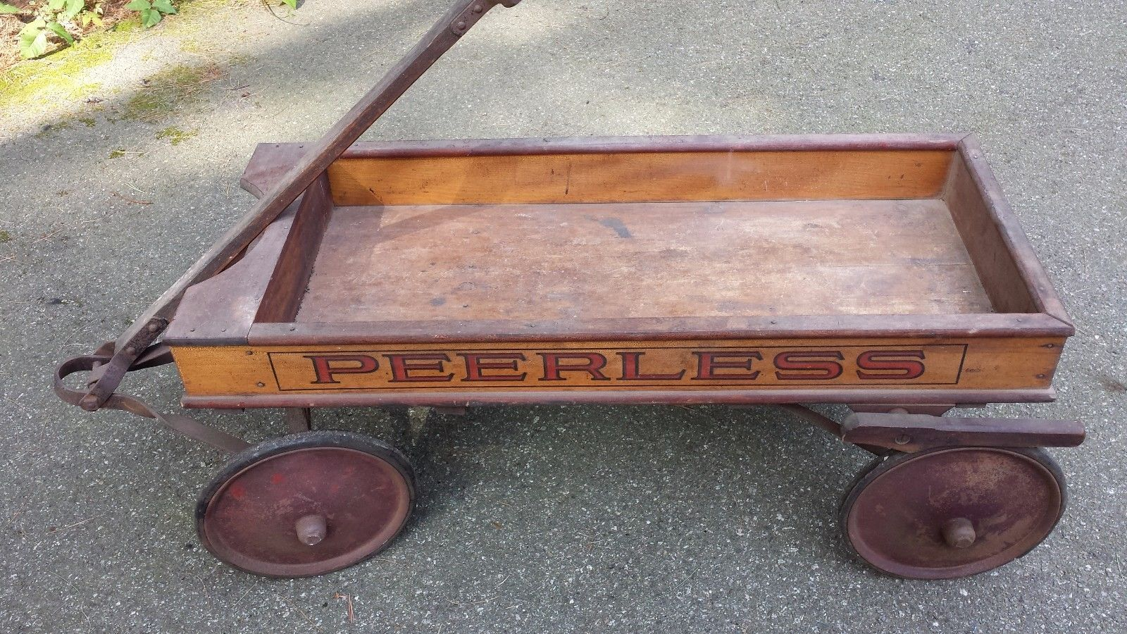 Vintage Rless Antique Wooden Wagon